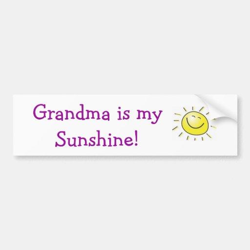 """Grandma is My Sunshine"" Bumper Sticker"