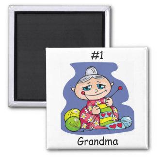 Grandma Knitting Magnet