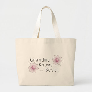 Grandma Knows Best Jumbo Tote Bag