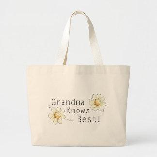 Grandma Knows Best Jumbo Tote Bag
