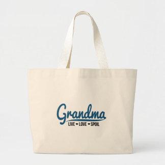 Grandma Live Love Spoil Large Tote Bag