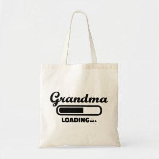 Grandma loading canvas bag