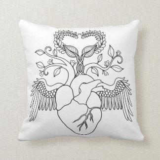 Grandma love heart angel coloring pillow