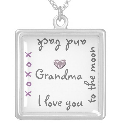 Grandma love to moon and back necklace