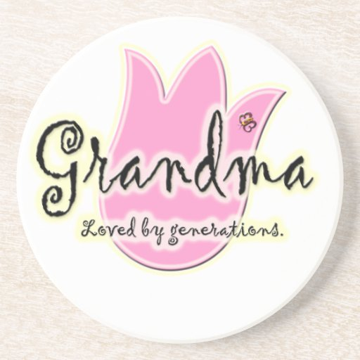 Grandma Loved By Generations - Grandmother Gifts Beverage Coasters