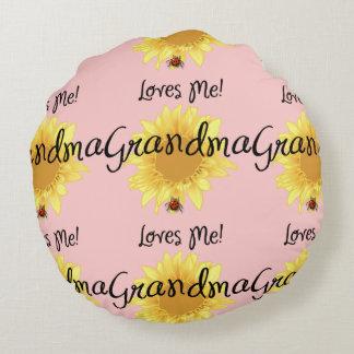 Grandma Loves Me Round Pillow
