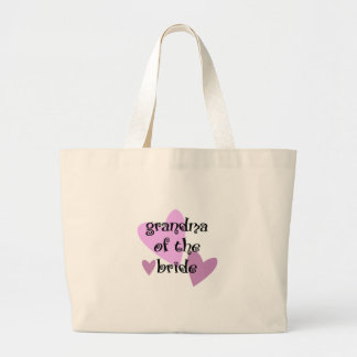 Grandma of the Bride Large Tote Bag
