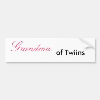 Grandma, of Twiins - Customized Bumper Sticker