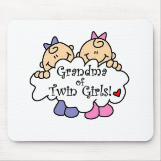 Grandma of Twin Girls Mouse Pad