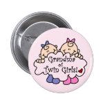 Grandma of Twin Girls Tshirts and Gifts 6 Cm Round Badge