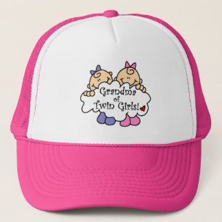 Grandma of Twin Girls Tshirts and Gifts Cap