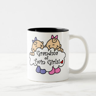 Grandma of Twin Girls Two-Tone Coffee Mug