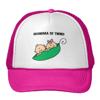 Grandma of Twins Peas in a Pod Tshirts and Gifts Trucker Hats