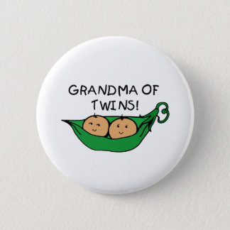 Grandma of Twins Pod 6 Cm Round Badge