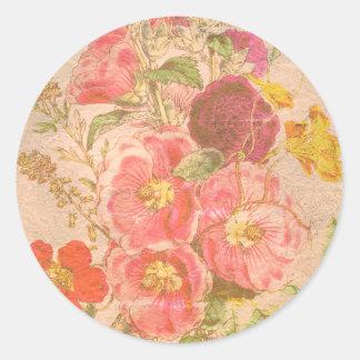 Grandma Old Fashioned Bouquet Round Sticker