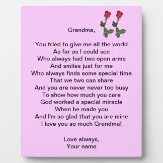 Grandma - plaque