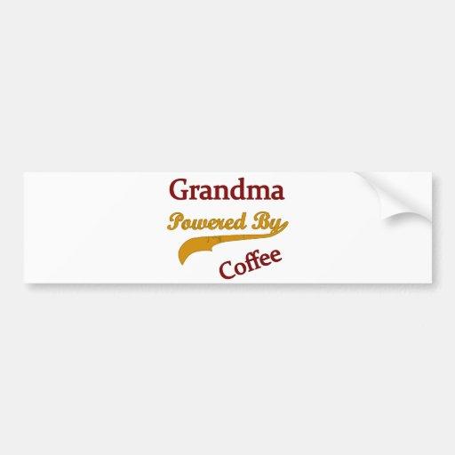 Grandma Powered By Coffee Bumper Stickers