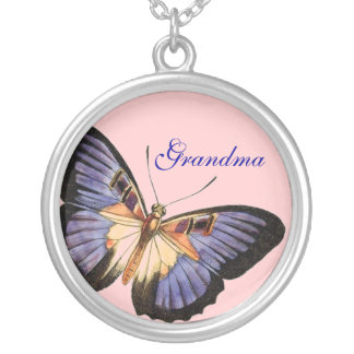 Grandma, Purple and Lavender Butterfly Necklace