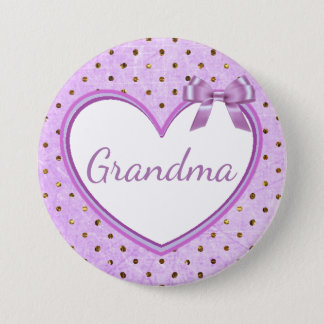 Grandma Purple Baby Shower Button