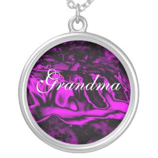 Grandma, Purple Waterfall Vibrations necklace