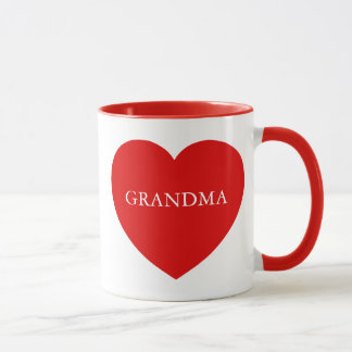 Grandma Red Heart Mug