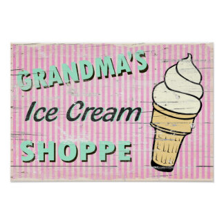 Grandma s Icecream Posters