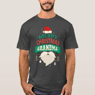 Grandma Santa Merry Christmas Family Matching T-Shirt