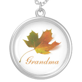 Grandma, Solitary Maple Leaf Necklace