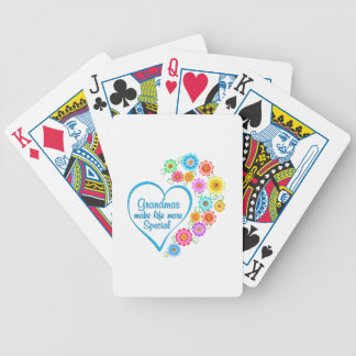 Grandma Special Heart Bicycle Playing Cards