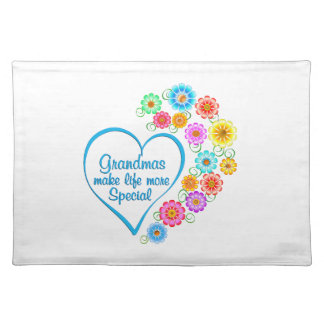Grandma Special Heart Placemat