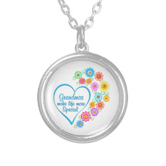 Grandma Special Heart Silver Plated Necklace