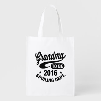 Grandma To Be 2016 Reusable Grocery Bag
