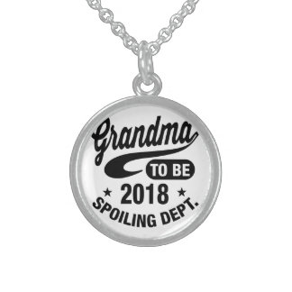 Grandma To Be 2018 Sterling Silver Necklace