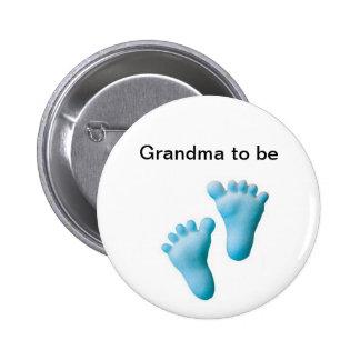 Grandma to be 6 cm round badge