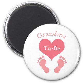 Grandma To-Be 6 Cm Round Magnet