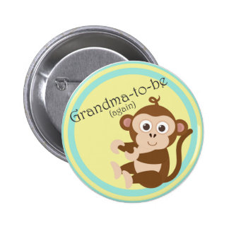 Grandma-to-be (again) 6 cm round badge