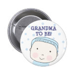 Grandma To Be!  Baby Boy Button