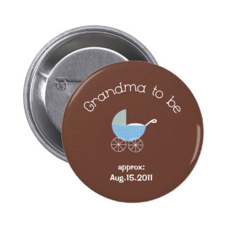 Grandma to be-Baby Boy Button