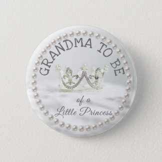 Grandma to be Baby Shower Button Princess Themed
