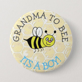 GRANDMA to Be Bumblebee Baby Shower Button