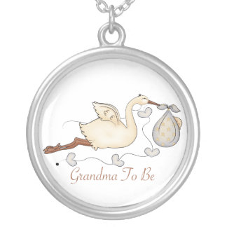Grandma To Be Silver Plated Necklace