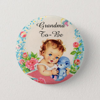 Grandma To Be Vintage Baby Shower Button