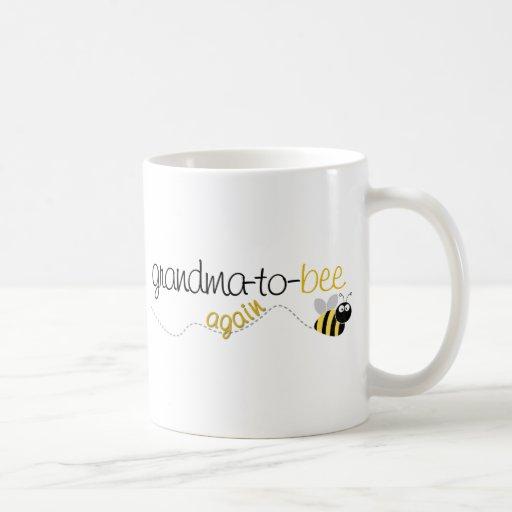 Grandma to Bee Again T-shirt Coffee Mugs