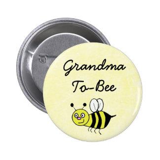 Grandma-To-Bee Baby Shower Mommy Pin