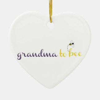 Grandma To Bee Ceramic Ornament