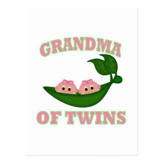 Grandma to Twin Girls Postcard