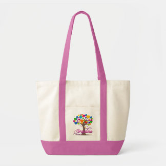 Grandma Tree of Hearts Shoulder Tote