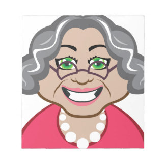 Grandma vector notepad