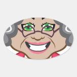 Grandma vector oval sticker