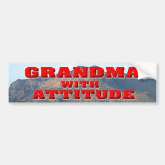 Grandma With Attitude Bumper Sticker